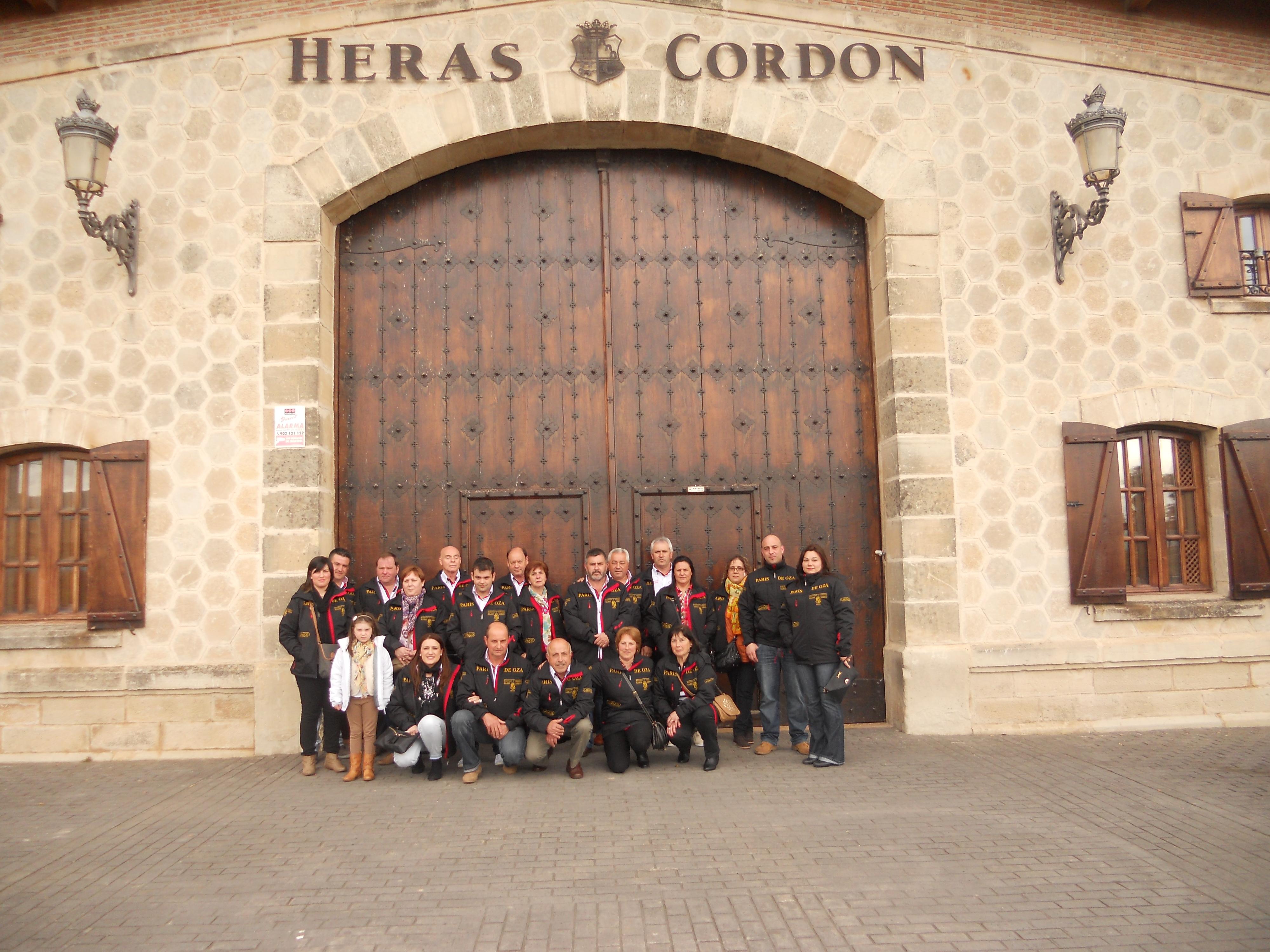 Visitando la Bodega Heras Cordón con Orquesta Paris de Oza